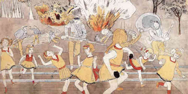 Henry Darger illustration from the Vivien Girls in The Realm of the Unreal
